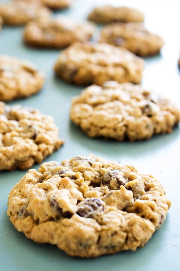 Chewy Oatmeal Peanut Butter Chocolate Chip Cookies Recipe Peanut Butter Oatmeal Chocolate Chip Cookies Peanut Butter Chocolate Chip Cookies Oatmeal Chocolate Chip Cookies