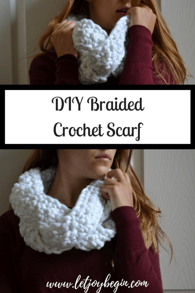 Crochet Braided Scarf | Easy Project | Free Pattern | - Crochet ...