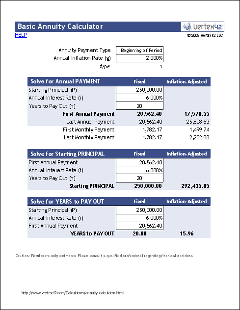 basic annuity calculator annuties calculator retirement templates