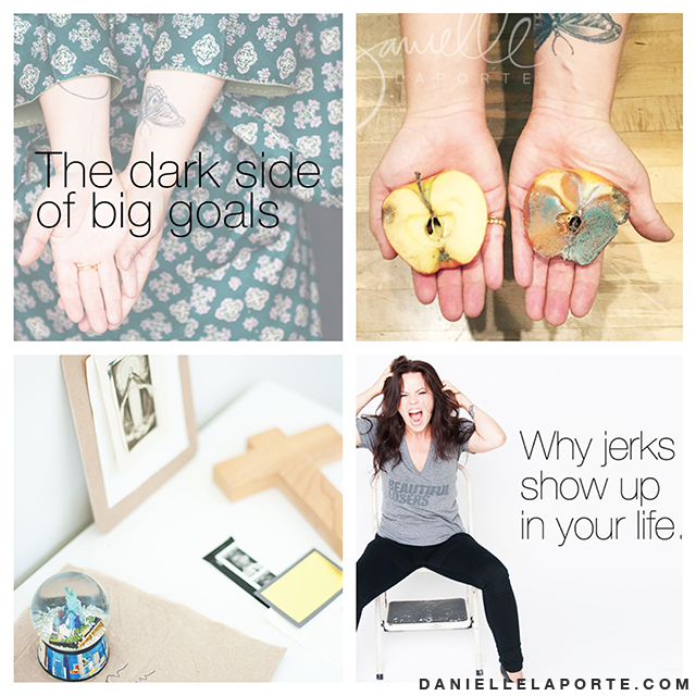 My most-read posts EVER happened last month: The apple experiment, calling back your power and morning rituals. April Roundup. http://www.daniellelaporte.com/april-roundup-2015/