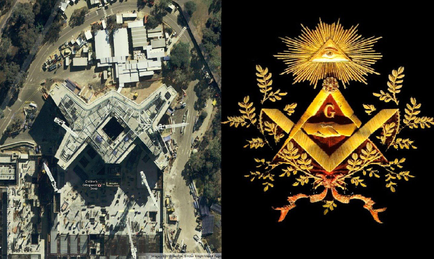 The new royal melbourne childrens hospital is shaped like the the new royal melbourne childrens hospital is shaped like the mason illuminati symbol biocorpaavc Choice Image