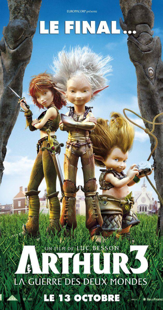 Arthure Et Les Minimoys 3 : arthure, minimoys, Arthur, Guerre, Mondes, (2010), Films, Enfants,, Film,