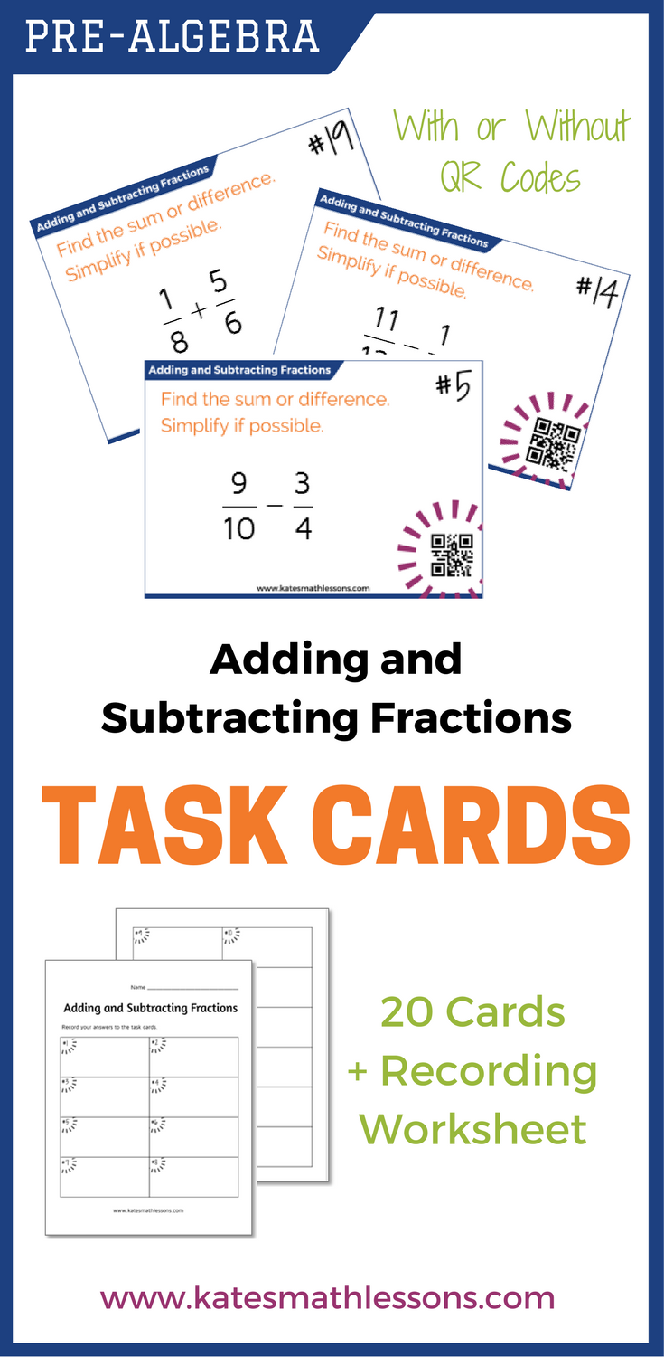 Adding And Subtracting Fractions Task Cards Subtracting Fractions Adding And Subtracting Fractions Fractions Task Cards [ 1500 x 735 Pixel ]