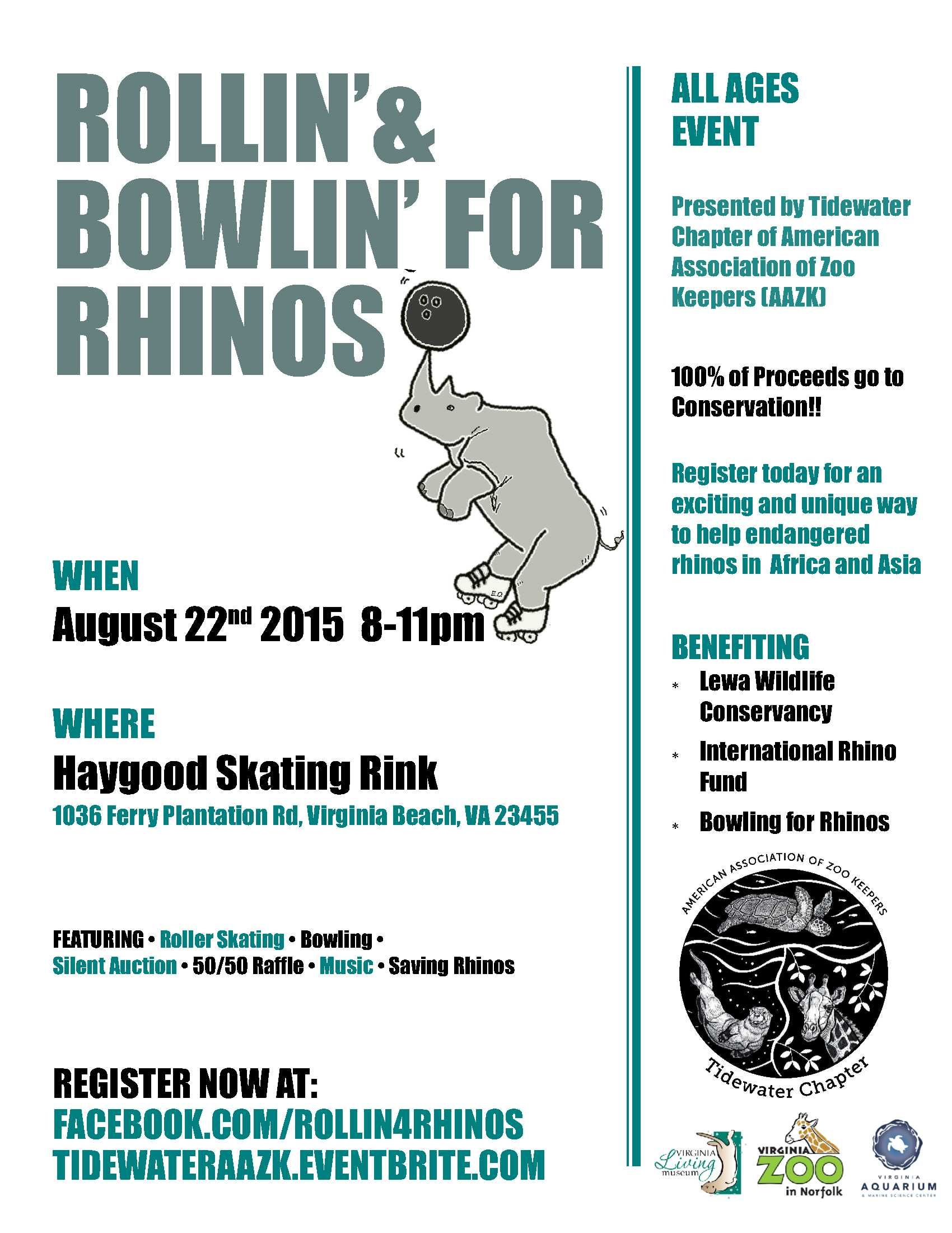 Rollin Bowlin For Rhinos With Images Event Organization Conservation Rhino