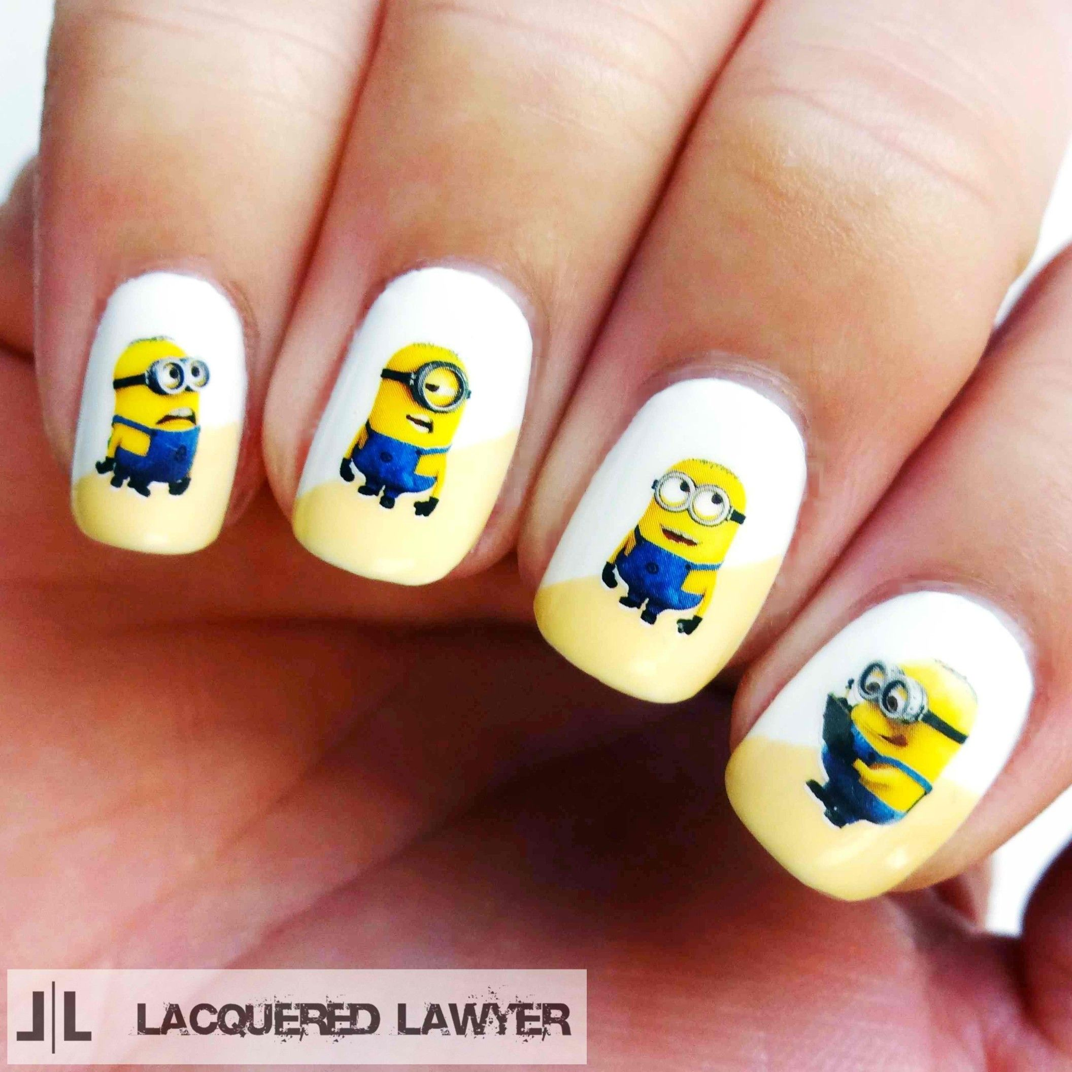 22-minion-nail-design-stickers | Nail Ideas and Tutorials ...
