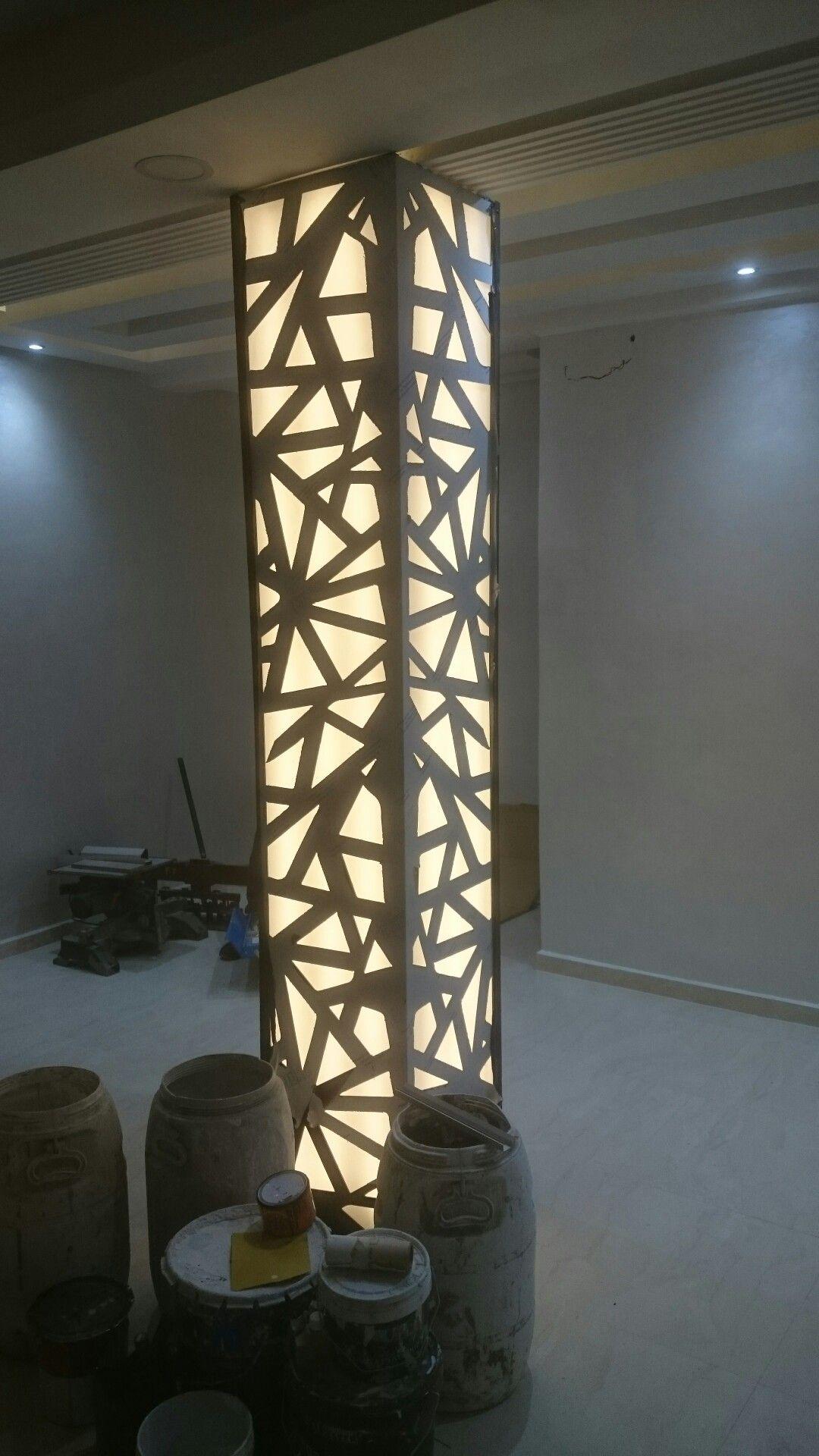 Habiller Un Poteau Interieur habillage poutre en alucobond avec lumiÈre. | décoration