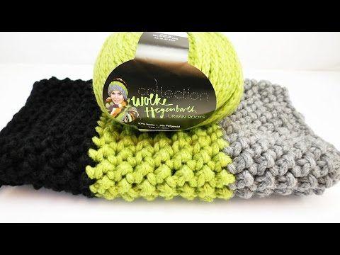 Loop Schal für den HERBST | Tolles Muster aus festen Maschen ...