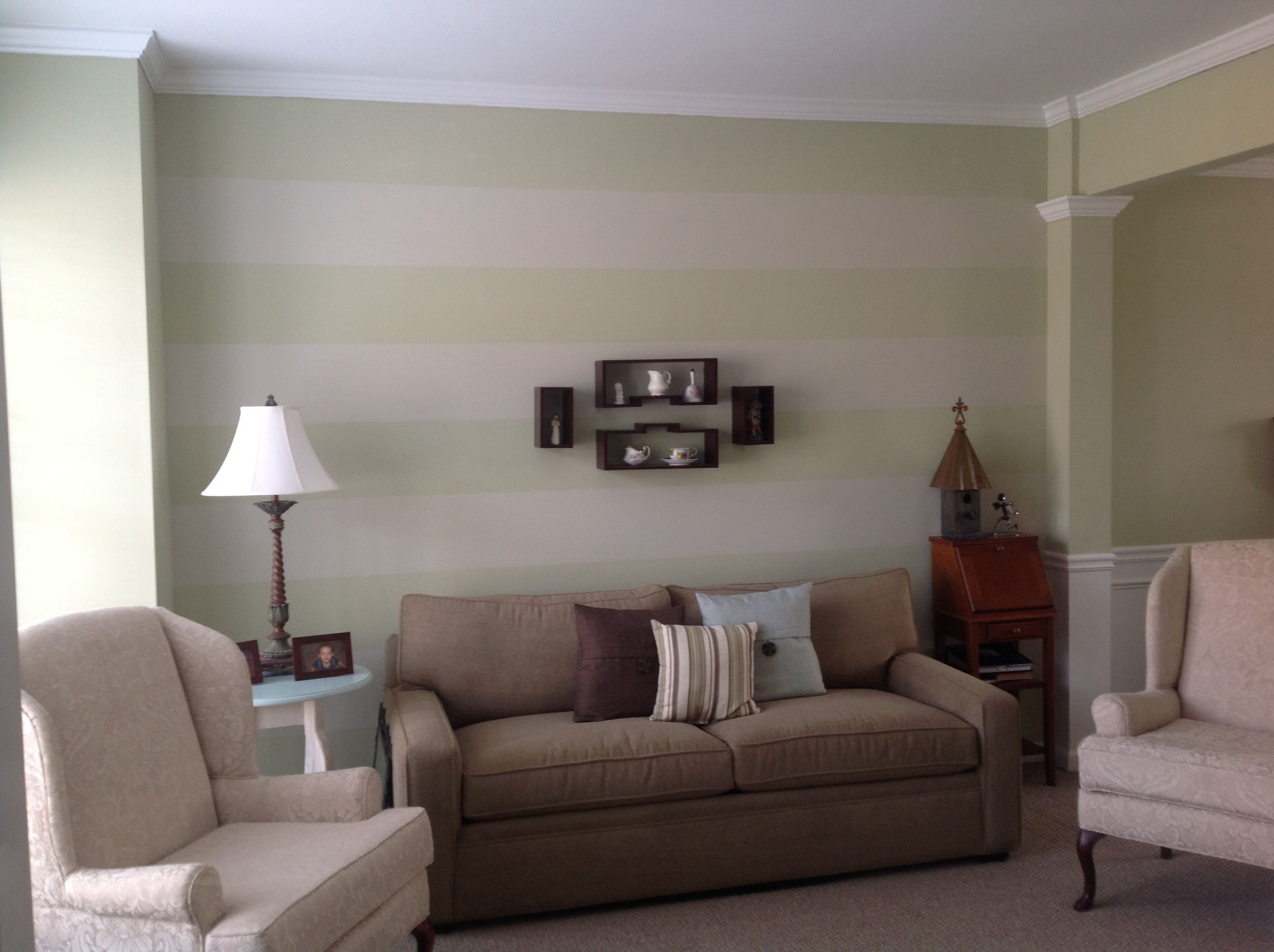 my subtle striped accent wall in living room accent walls pinterest walls room and living. Black Bedroom Furniture Sets. Home Design Ideas