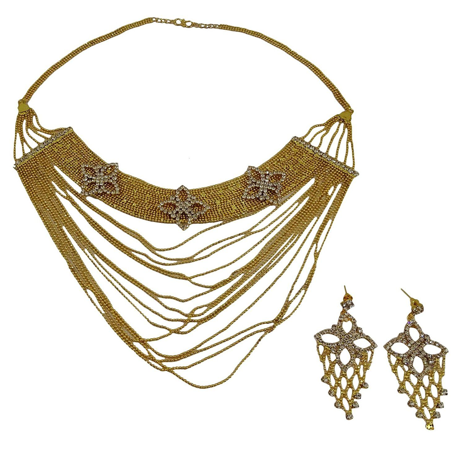Official Website 18k Goldplated Indian Women 2pcs Necklace Earring Set Traditional Party Jewelry Bridal & Wedding Party Jewelry Jewelry & Watches