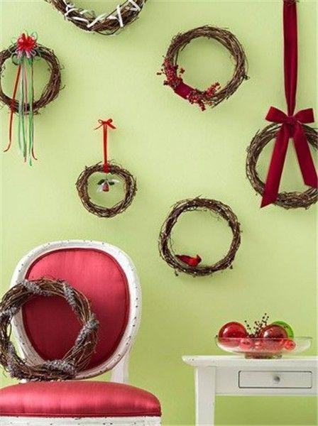 2013 Christmas wall art, Christmas wreath wall art, Christmas wall ...