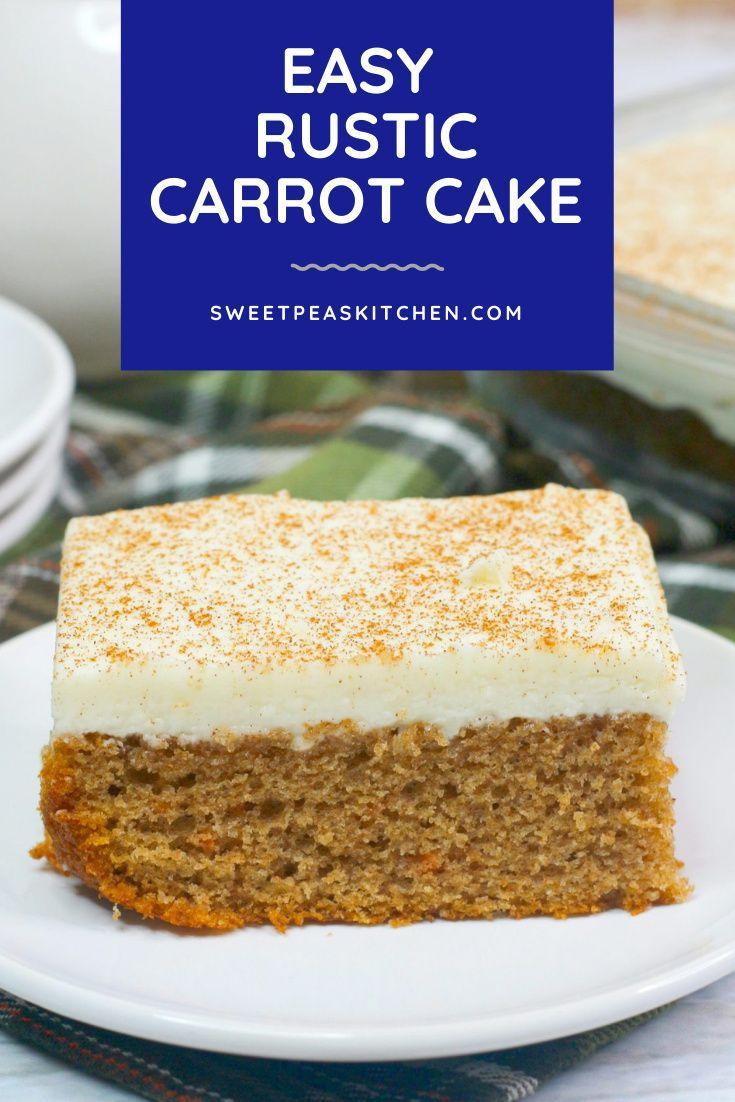 Easy Rustic Carrot Cake Recipe