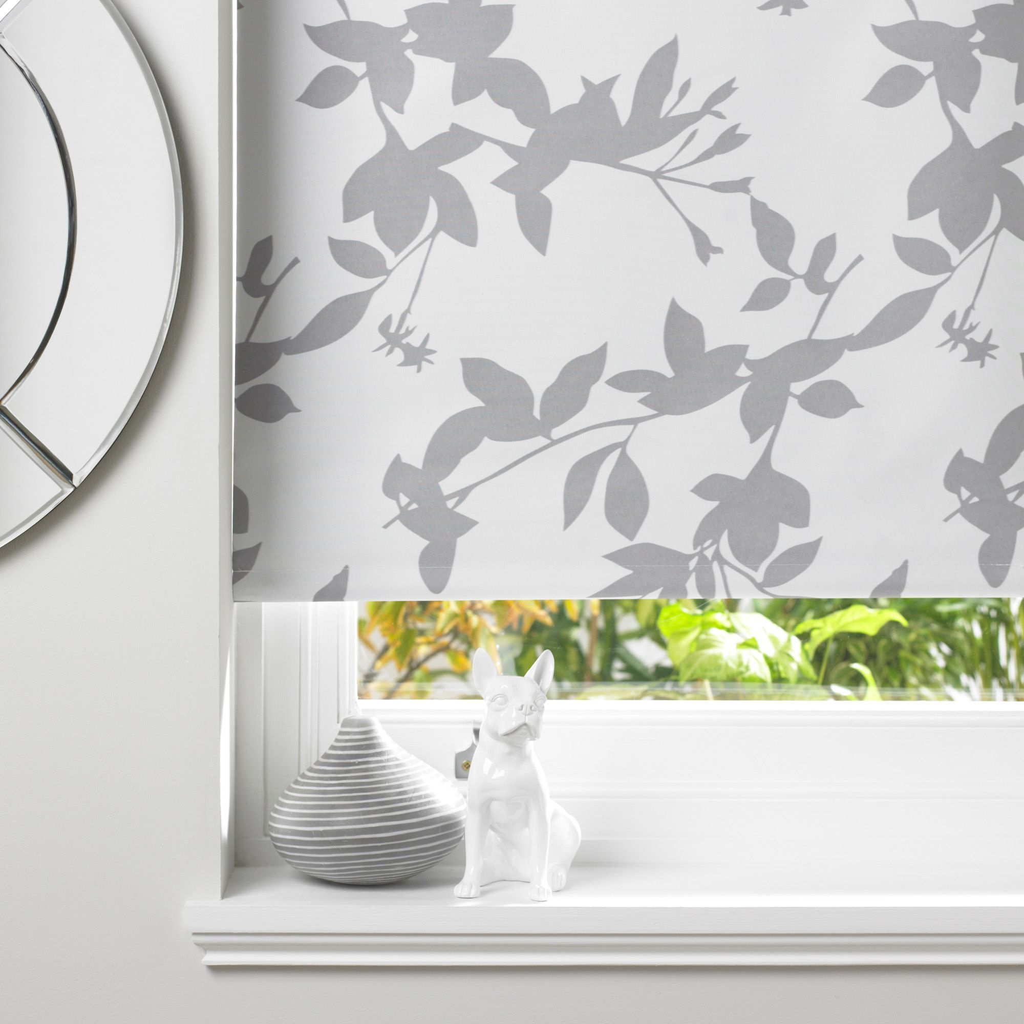 Bathroom Window Blinds B&Q colours pheacia corded grey & white roller blind (l)160 cm (w)60