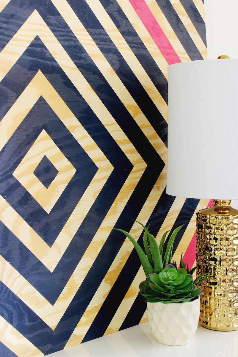 Paint A Design On Wall Geometric Triangle Idea With Tape Diy For Life  Images ...