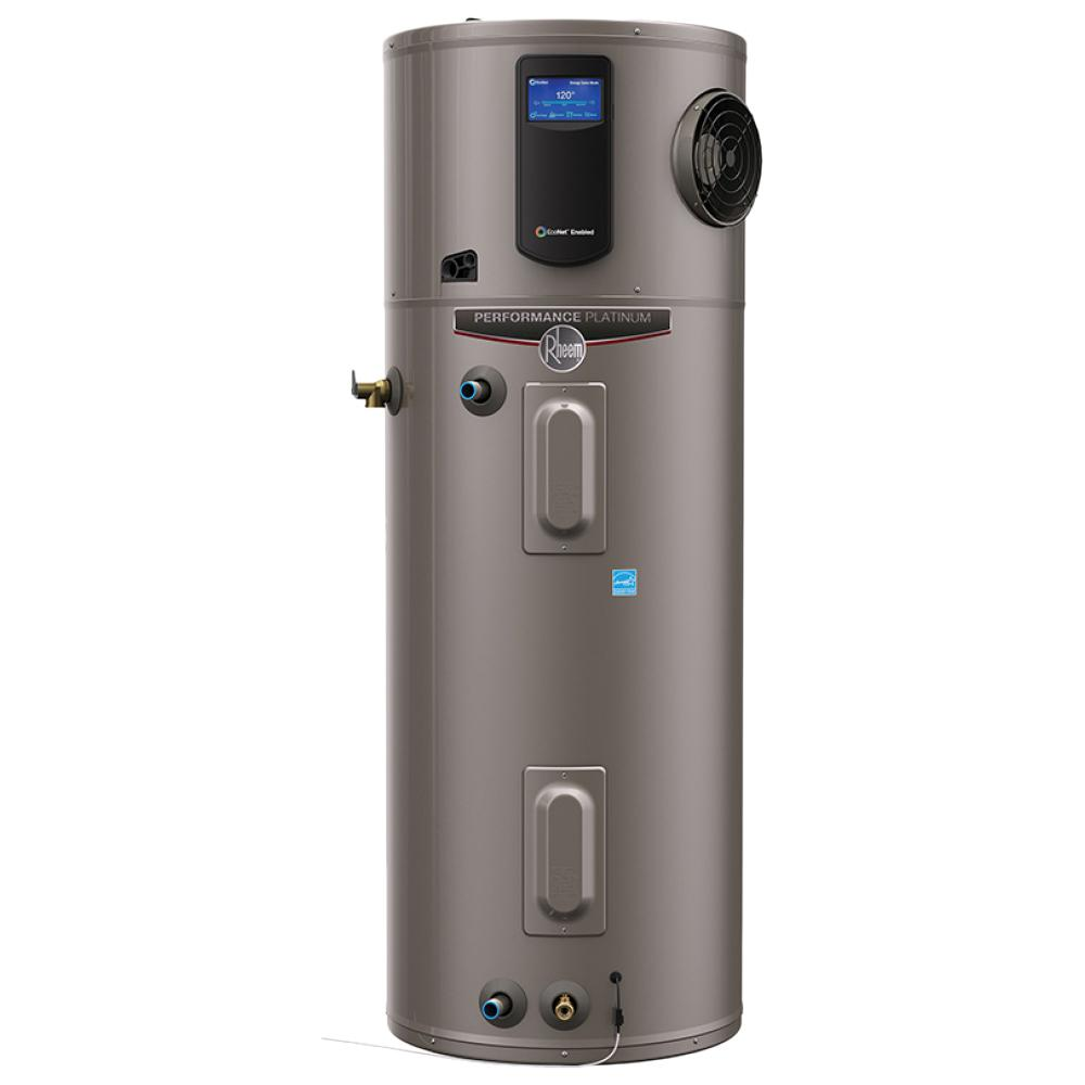 Rheem Performance Platinum 50 Gal 10 Year Hybrid High Efficiency Smart Tank Electric Water H Electric Water Heater Hybrid Water Heaters Heat Pump Water Heater