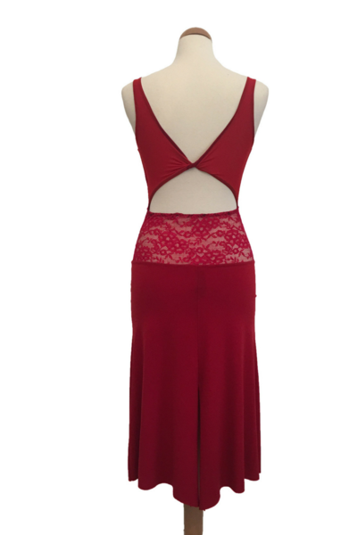 1a468f880f Red Tango Dress with Lace   Tulle