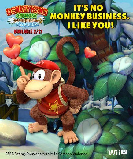 #DonkeyKong #DiddyKong #ValentinesDay #DKCTF #Nintendo