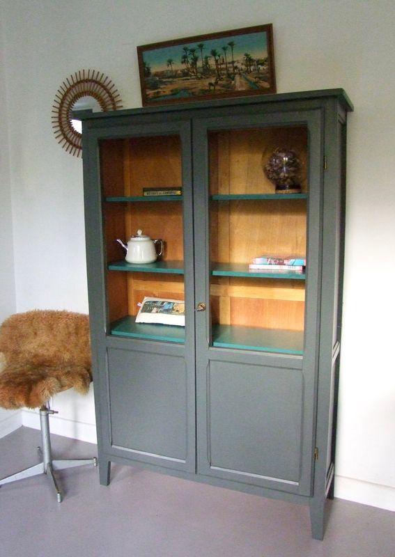 Armoire Parisienne Semi Vitree Armoire Parisienne Mobilier De Salon Meuble Vintage