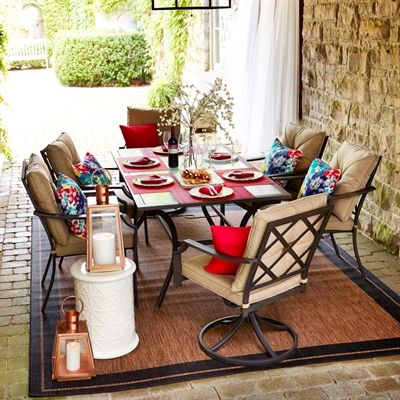 Garden Treasures Vinehaven 7 Piece Dining Set