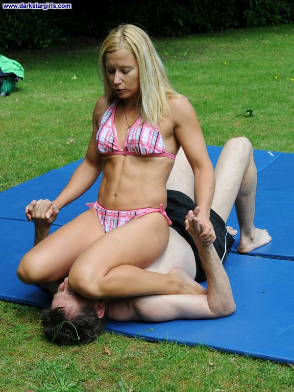 Mixed sex wrestling mother-in-law did