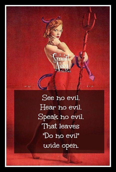 Do no evil!!  Lol