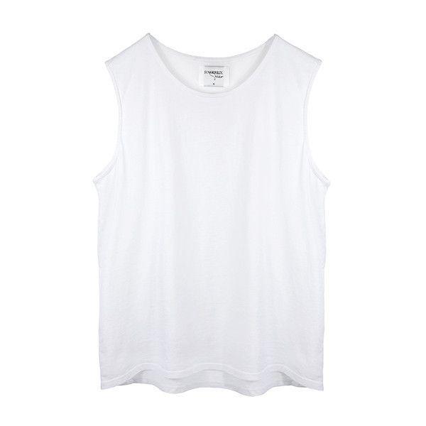 KARLIE TANK WHITE (170 BRL) ❤ liked on Polyvore featuring tops, shirts, tank tops, white, white tank top, ripped tank top, shirts & tops, torn shirt and distressed shirt