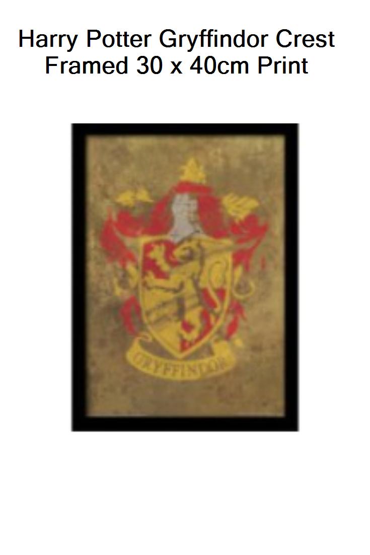 Harry Potter Gryffindor Crest Framed 30 X 40cm Print Uk Prices Gryffindor Crest Harry Potter Gryffindor