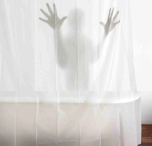 Scary Shadow Shower Curtain Scary Shower Curtains Unique Shower