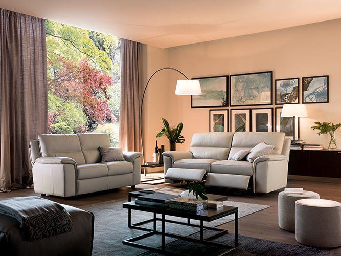 Chateau D Ax Divani Con Relax.Modelo Alice Chateau D Ax Espana En Piel Family Y Color Gris Sofa 3