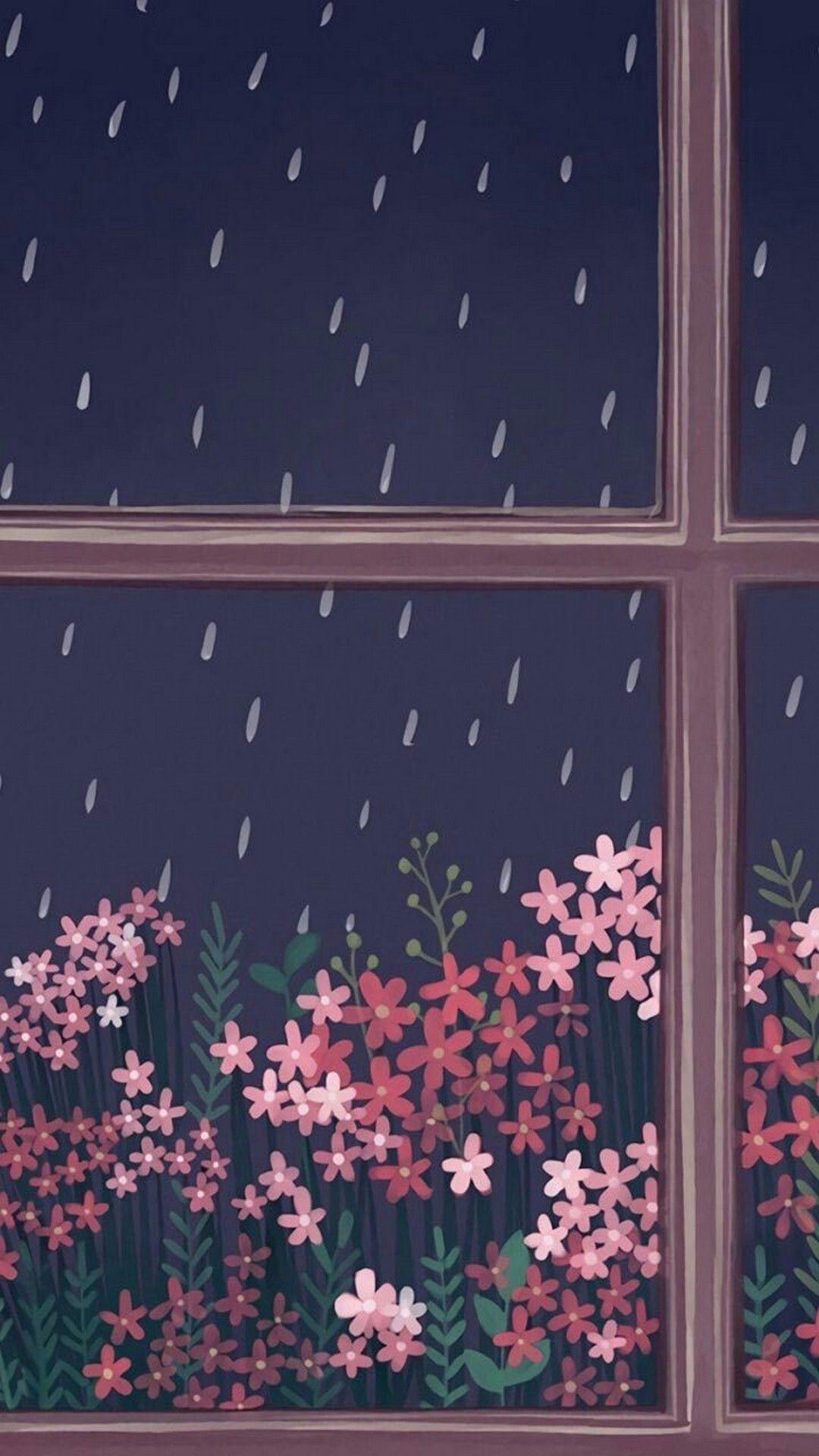 Rain Wallpaper For Iphone 6 Rain Wallpapers Aesthetic