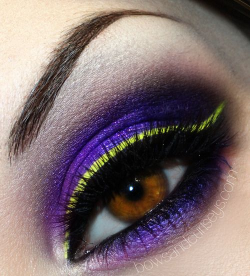 Violet and yellow
