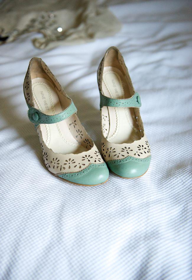 Blue dress green shoes on pinterest