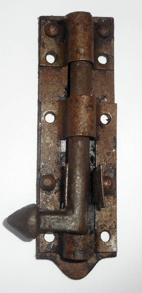 Vintage Door Sliding Barrel Bolt Cast Iron And Iron Made In India - Vintage Door Sliding Barrel Bolt Cast Iron And Iron Made In India