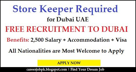 Store Keeper Jobs In Dubai With Visa We Are Hiring Only Experience Candidates For The Post Of Storekeeper Contracting Company Providing Online Jobs Dubai Job
