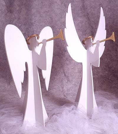 Heavenly Winds Angels  Large-format Paper Woodworking Plan I - outdoor angel christmas decorations
