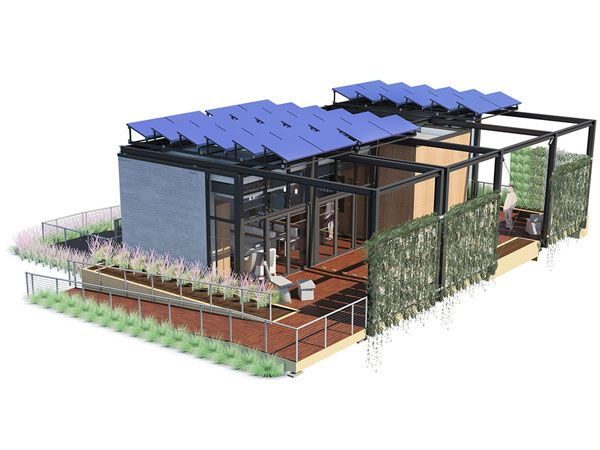 What S Inside The Solar Powered House Of The Future Solar House Solar Power House Residential Solar