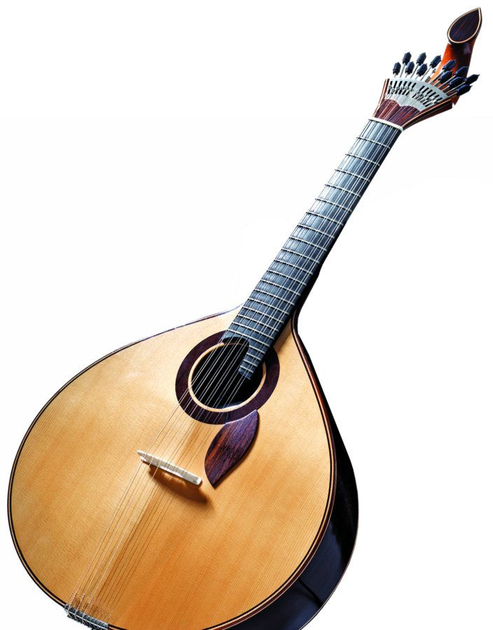 A Traditional Portuguese Guitar That Would Be Used For Fado Com