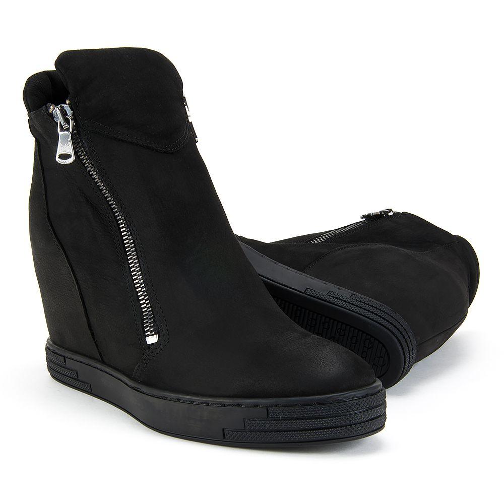 Botki Na Koturnie Czarne Damskie Claudio Sneakersy Http Www Filippo Pl Sneakersy Claudio Rossetti 846 Czarny Nubuk Boots Shoes Wedge Boot