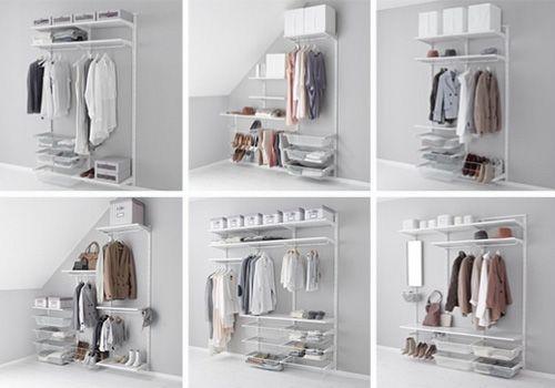 Distintas formas de almacenaje en ikea vestidores - Interior de armarios ikea ...