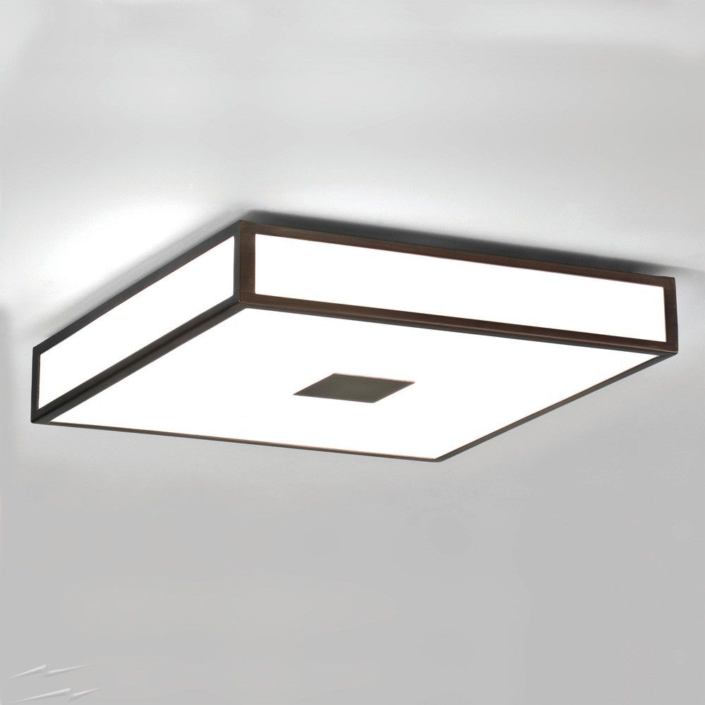 Mashiko 400 Square Bathroom Light In Bronze Ip44 4 X E27 Es Dimmable For Wall Ceiling Astro 1121013 Ceiling Lights Bronze Ceiling Lights Bathroom Ceiling Light