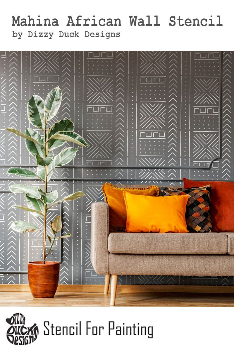 Wall Stencils Are A Great Alternative To Wallpaper Not Only Are They Cheaper But You Get To Play Around With Painting Textured Walls Home Decor Stencils Wall