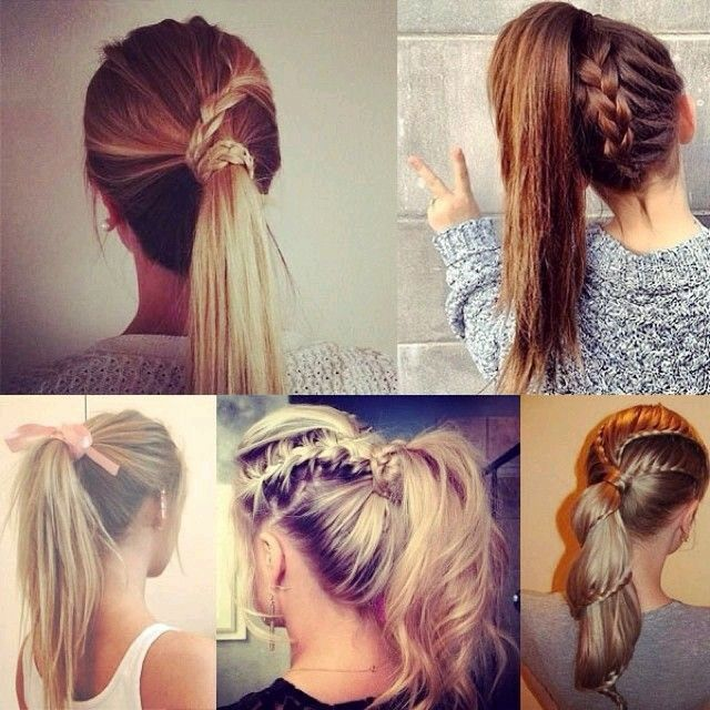 Hairstyles For School Easy Coletas Con Trenza  Hair  Pinterest  Hair Style Daily Hairstyles