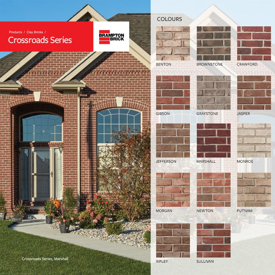 Our Most Diverse Color Offering Crossroads Clay Bricks With Their Rugged Tumbled Appearance And A Full Pal Residential Building Design House Exterior Brick