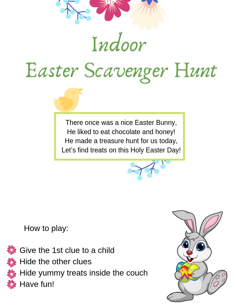 Easter Scavenger Hunt Easter scavenger hunt, Easter