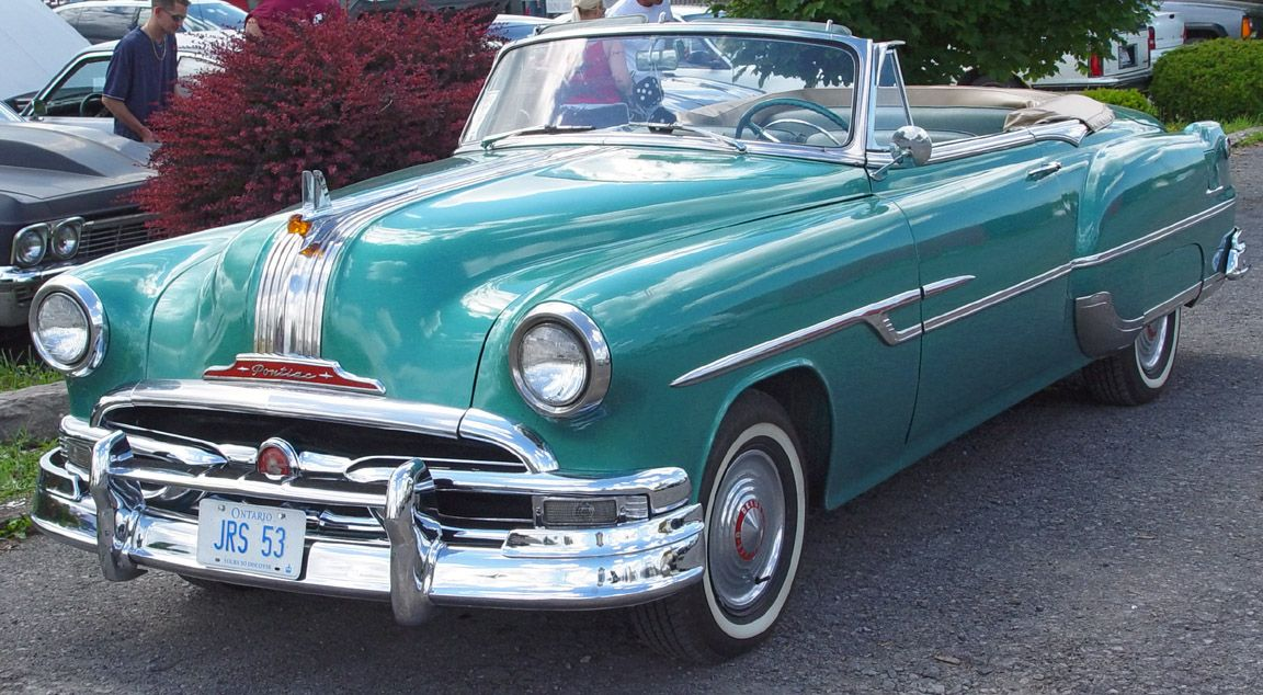 1953 Pontiac  1953 Pontiac Convertible  Green  Front Angle