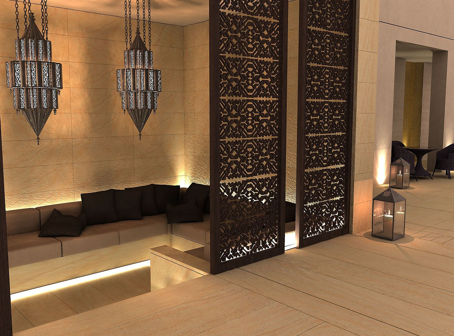 The Interior Design Project For A Luxury Villa In Kuwait