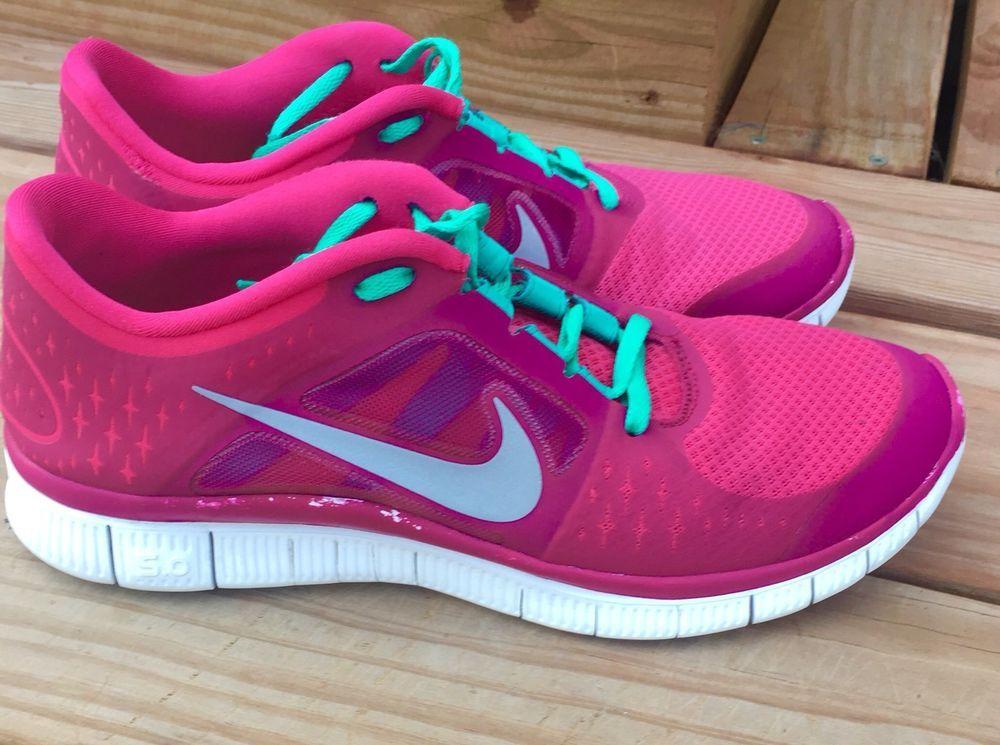 Nike Free Run+ 3 Pink ForceReflect Silver Sport Fuchsia