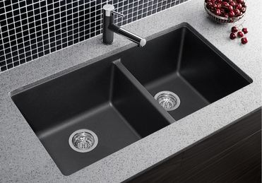 Blanco 400583 Precis 1 3 4 Anthracite Silgranit Double Undermount
