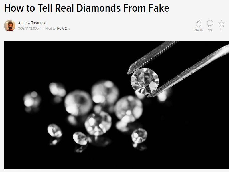 How To Tell Real Diamonds From Fake Fake Diamond Diamond Real Diamonds
