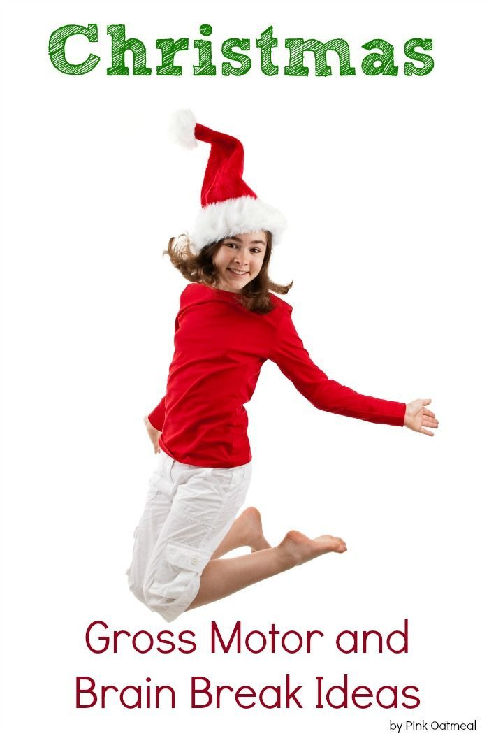 Christmas Gross Motor and Brain Break Ideas Perfect Christmas activity for the classroom Use these for physical education or therapy as well Moving with a Christmas theme