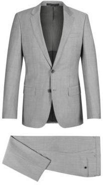 a22ed2de BOSS Hugo Italian Wool Suit, Slim Fit Huge/Genius 44S Open Grey ...